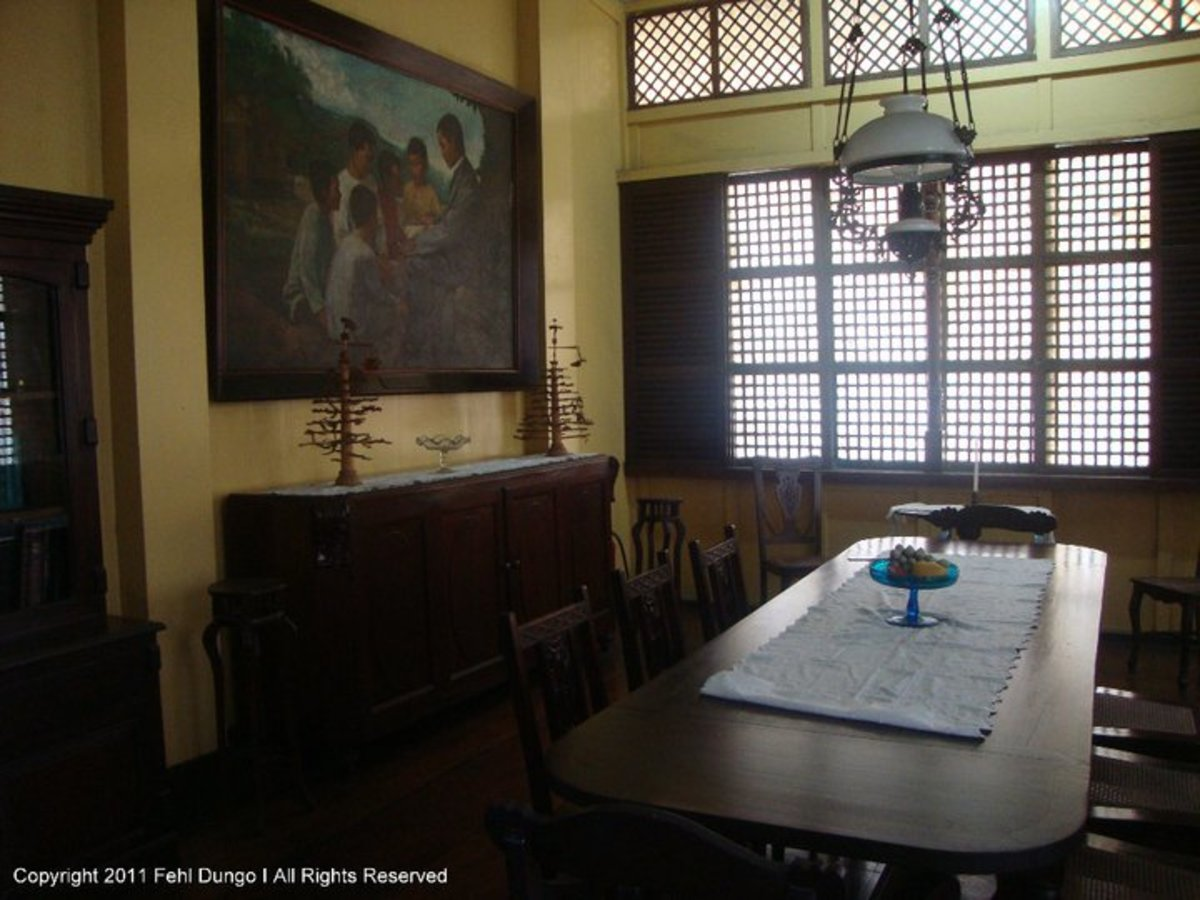 So this is where the Rizal family used to dine and eat. Imagine the life of the wealthy people in the Philippines1861 and beyond...