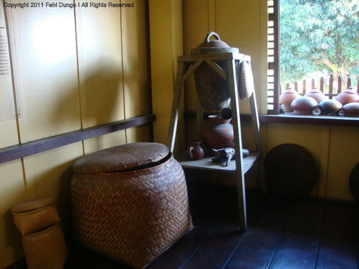 Rizal's kitchen is full of useful things.