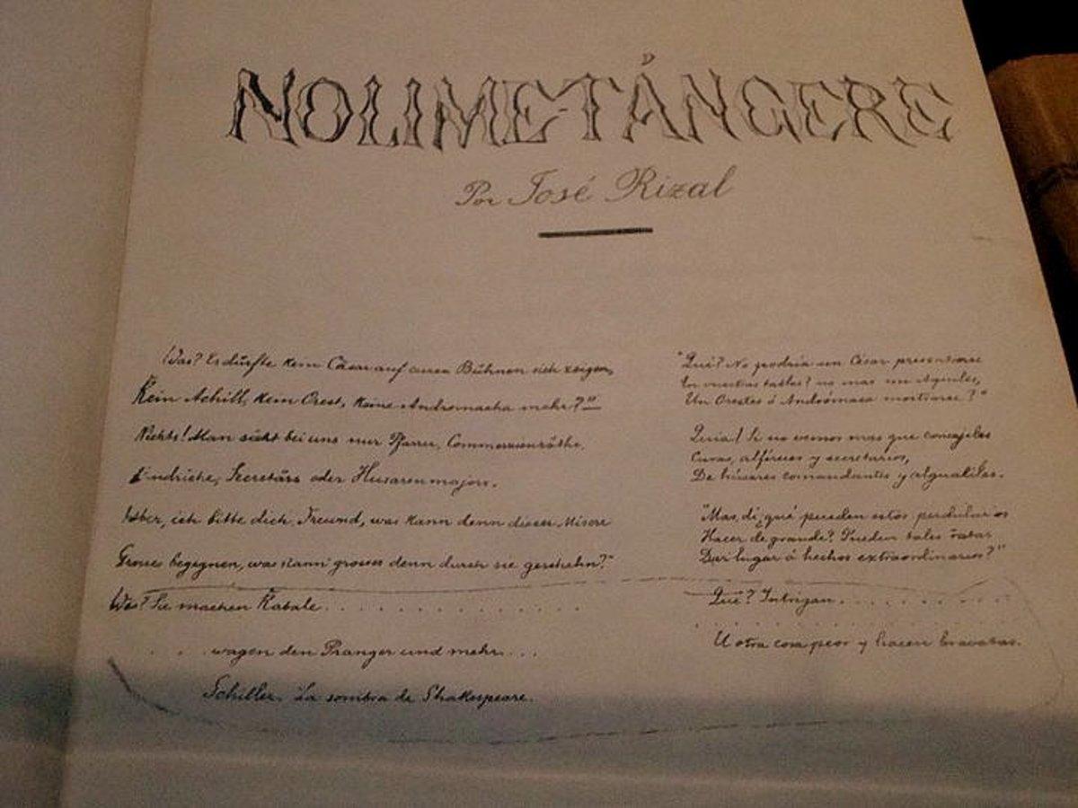 Noli Me Tangere by Dr. Jose Rizal