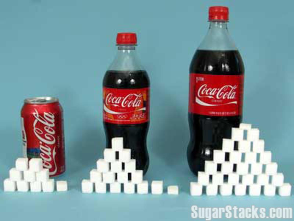 Equivalent sugar in Soda Pop Poster