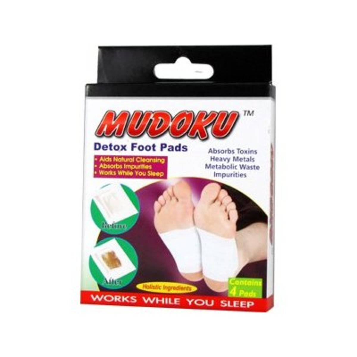 Mudoku Detox Foot Pads Results from Moisture