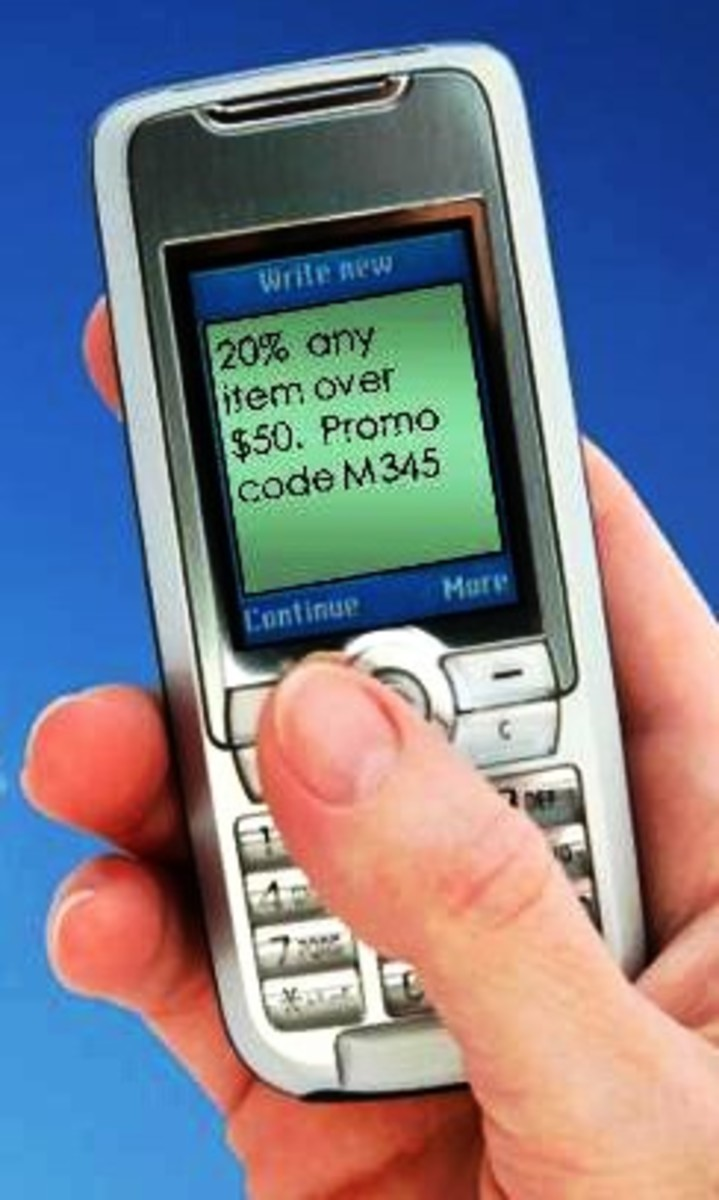 Promo SMS text message