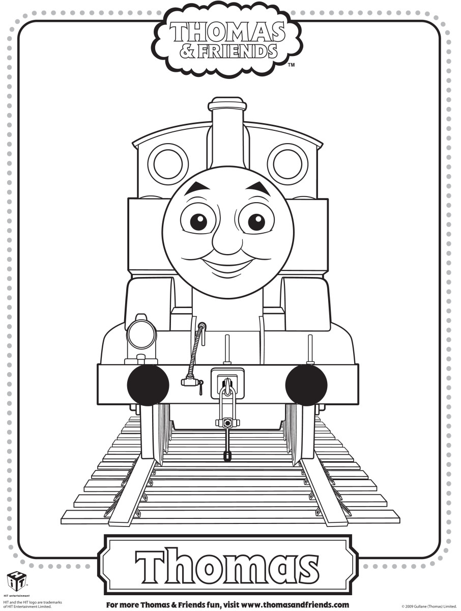 Thomas the Train coloring pages at sproutonline.com