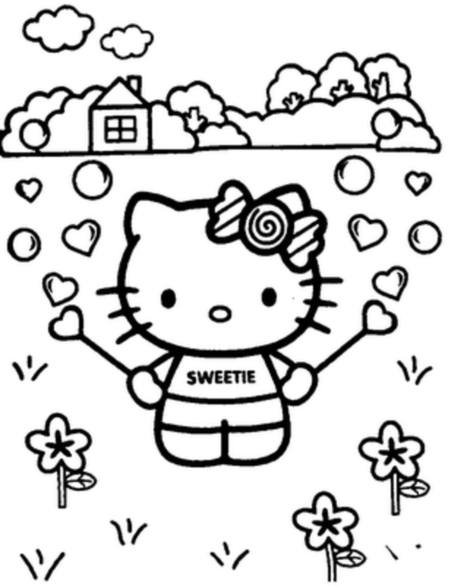 Hello Kitty coloring pages at hellokittycolouring.blogspot.com