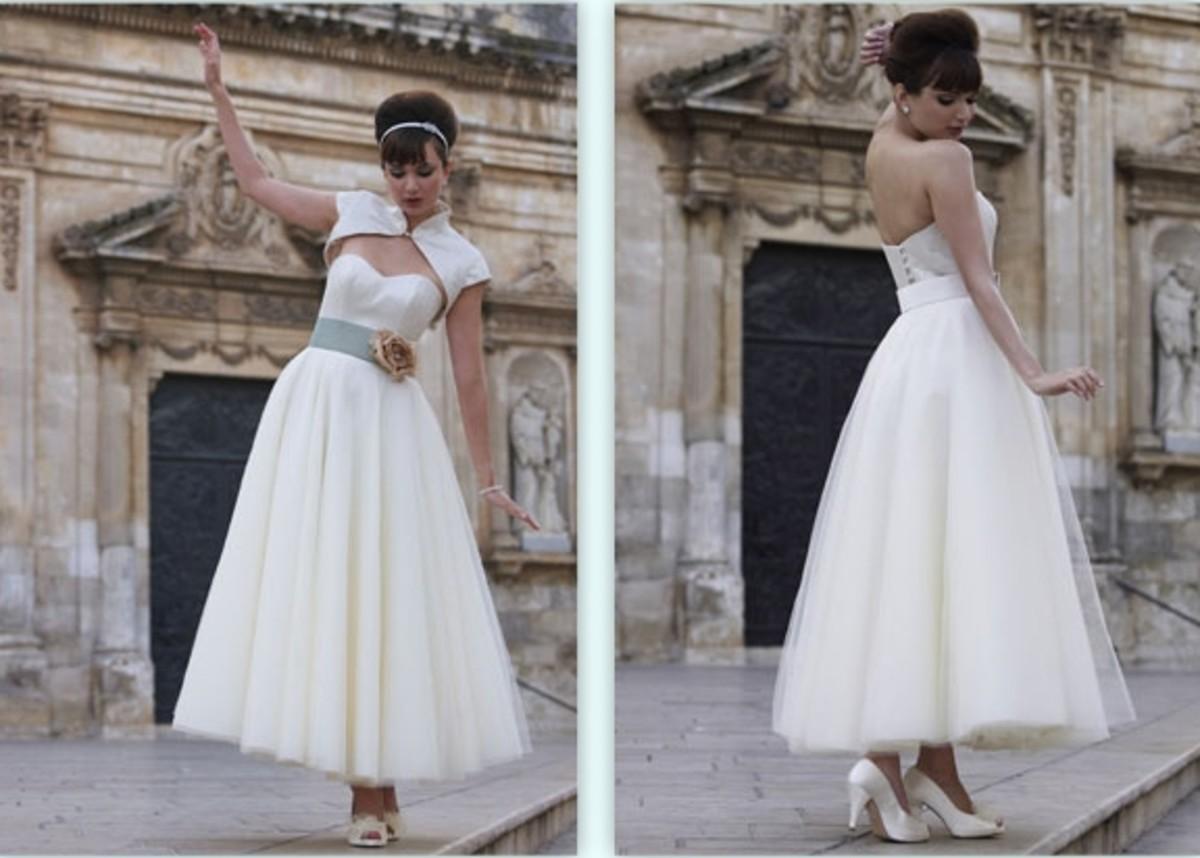 50 s style wedding dresses