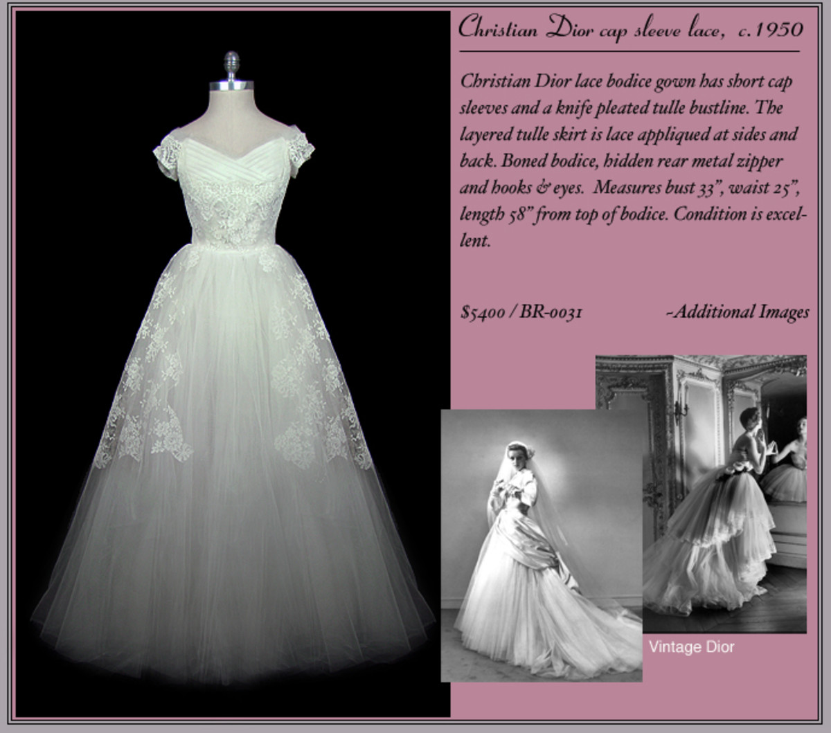 Christian Dior Wedding Gowns: Rock The Frock With 50s Style Wedding Dresses