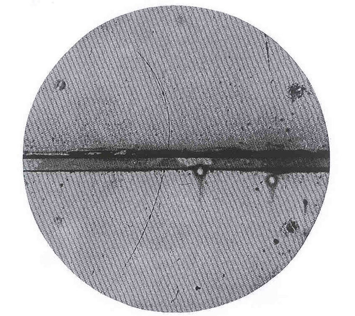 The first image of an antiparticle, by Carl D. Anderson (1905-1991) (Physical Review, Vol.43, p. 491)