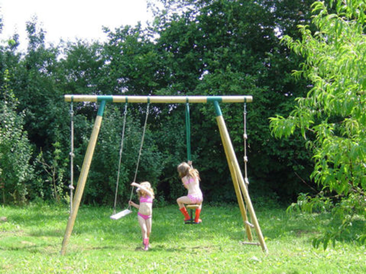 Our play area has swings