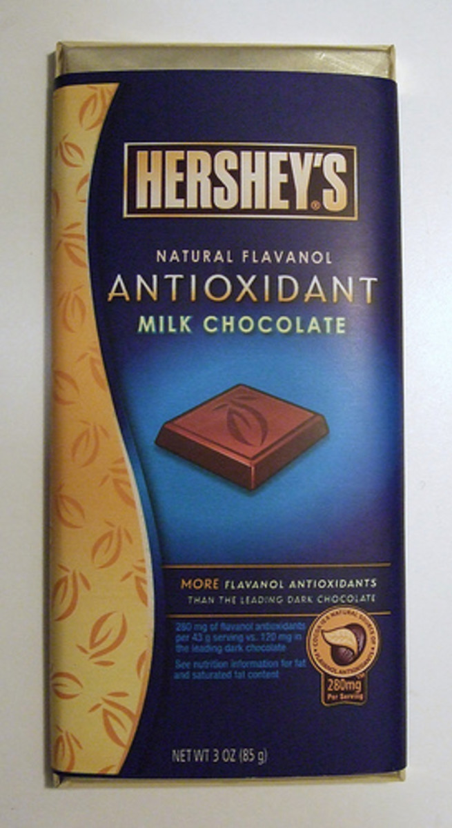 Foods With Antioxidants:  Chocolate is one of the foods high in antioxidants.