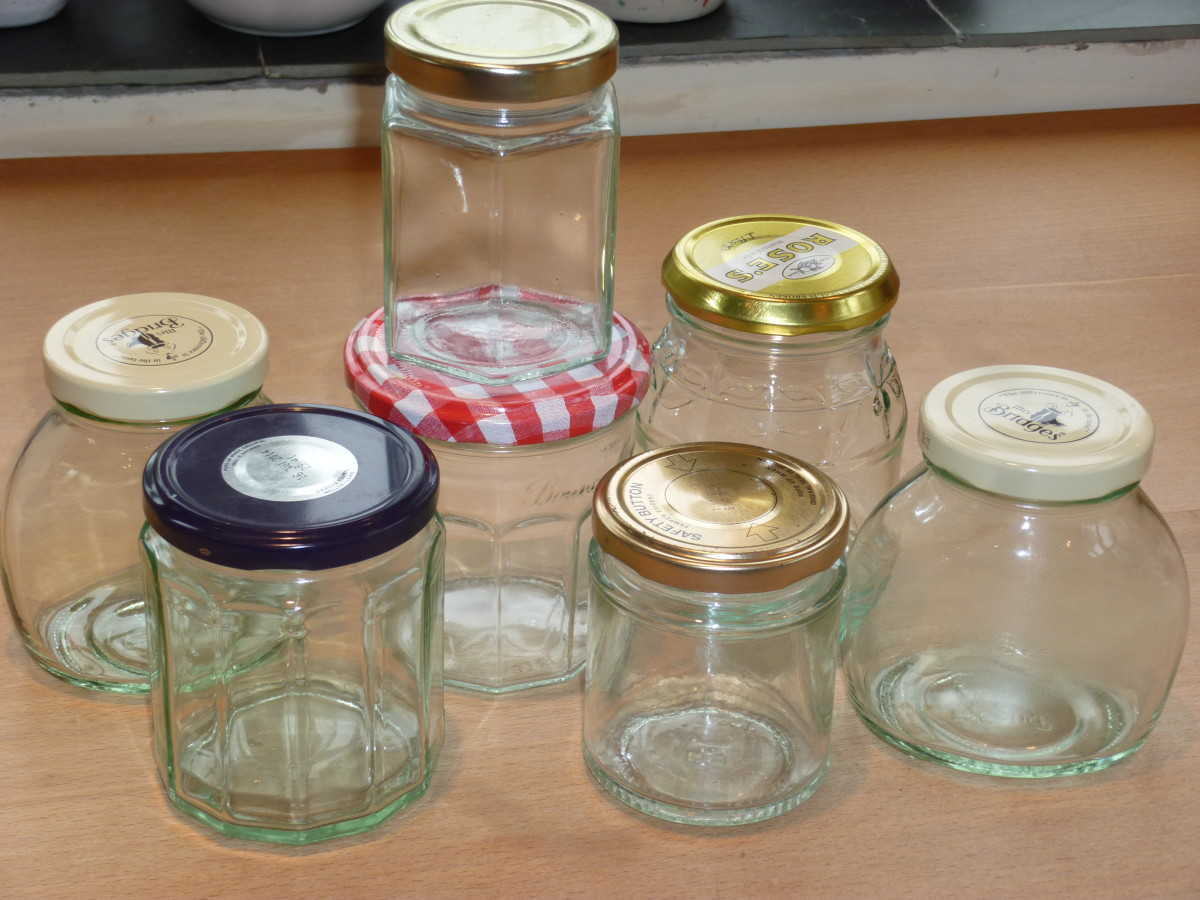 Just some of my eclectic collection of jars ...