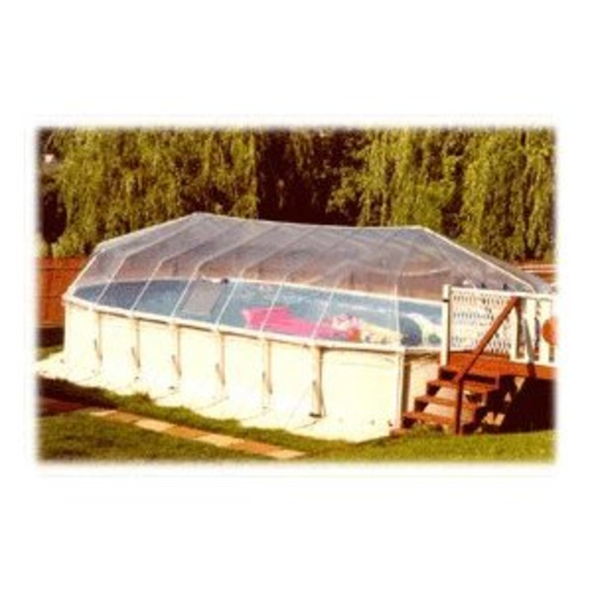 With a solar cover, above ground swimming pools can be used more.
