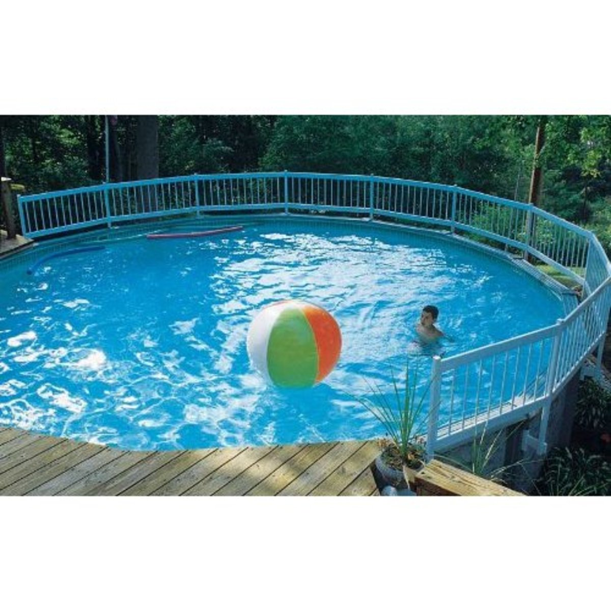 Above ground pools are fun for the whole family!