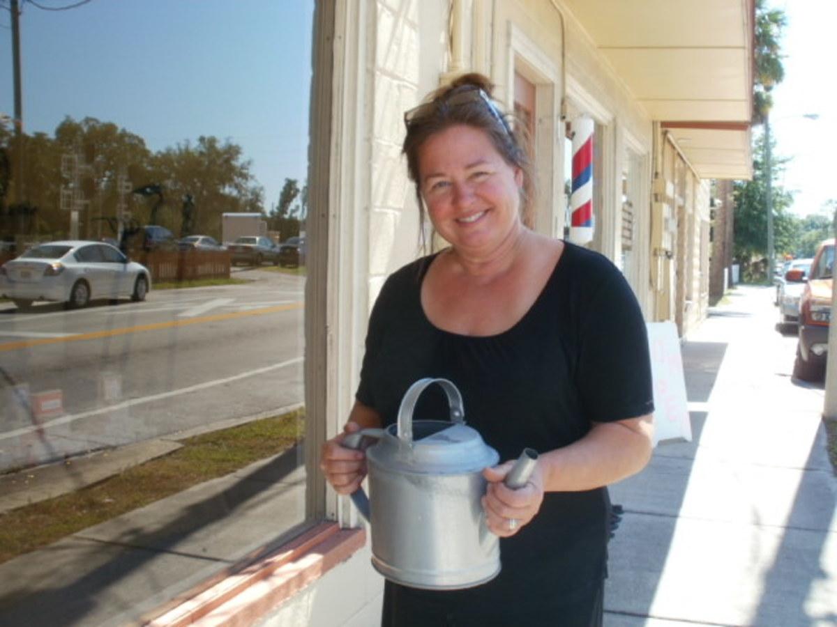 Cheryl Bryant, owner of Wild Hare Kitchen and Garden Emporium