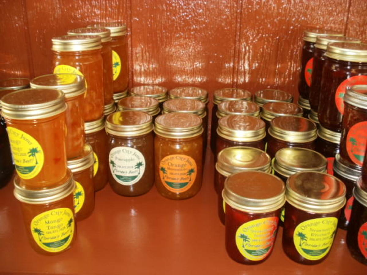 Locally made organic jams and canned goods available at Wild Hare Kitchen and Garden Emporium