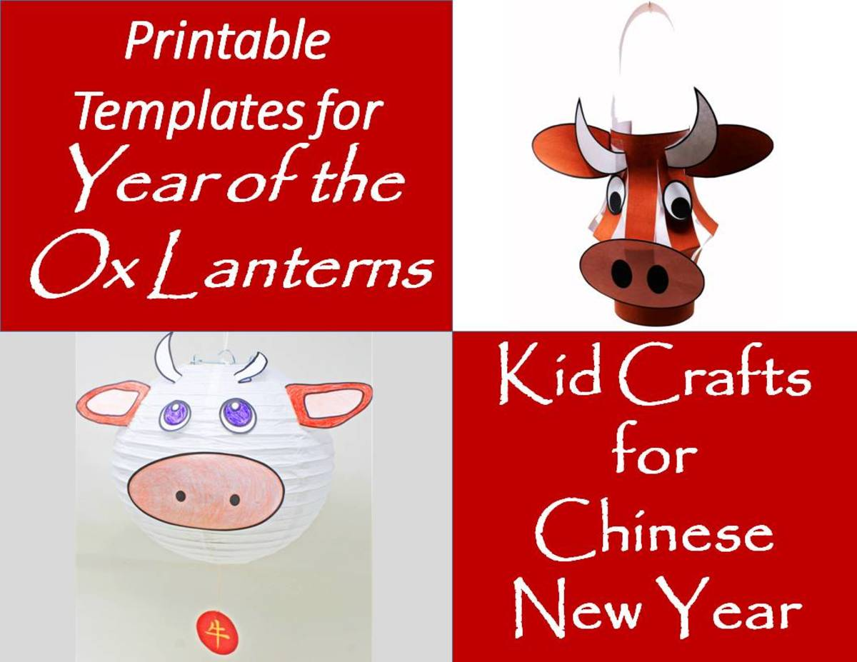 Printable Templates for Year of the Ox Lanterns: Kid Crafts for Chinese New Year