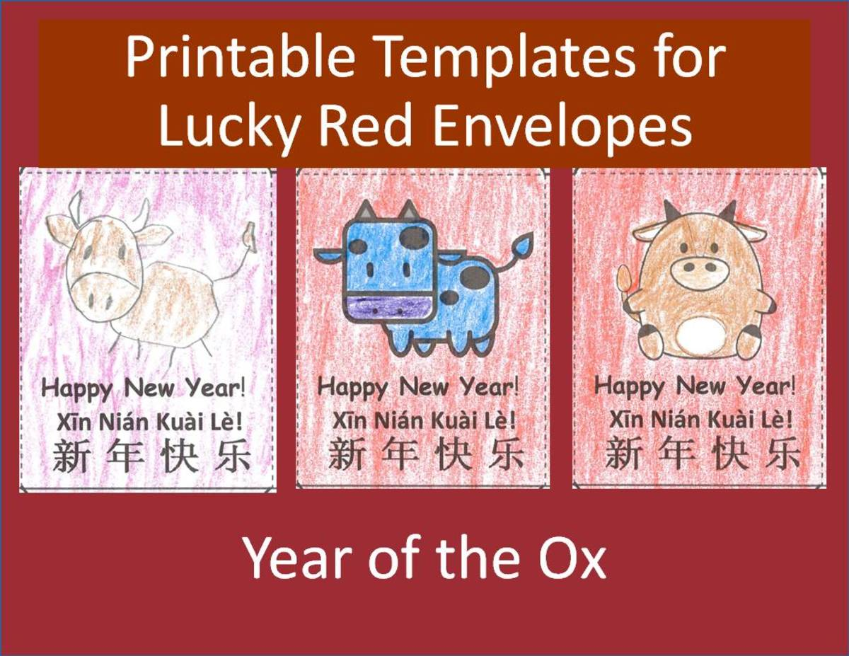 Printable Lucky Red Envelopes for Year of the Ox: Kids' Crafts for Chinese New Year