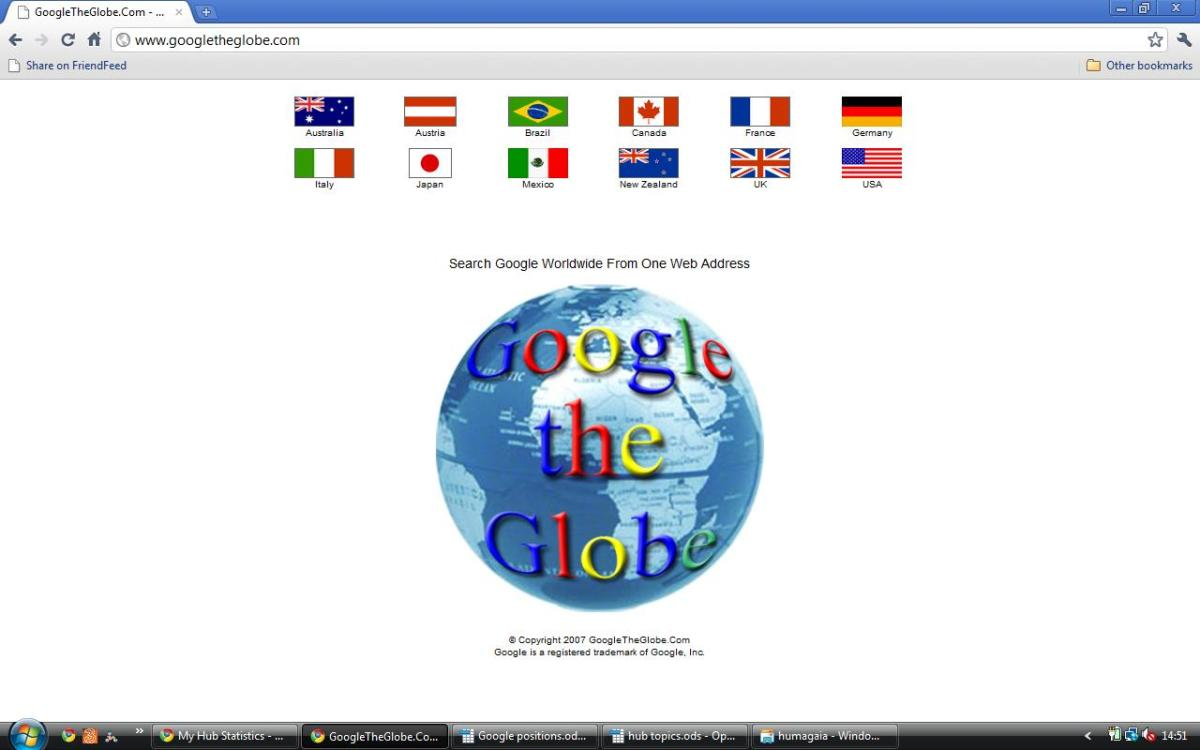 GoogleTheGlobe (www.googleTheGlobe.com)
