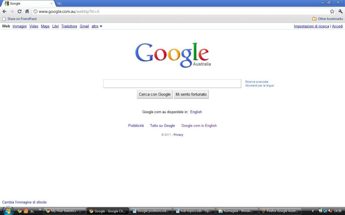 Google Australia in Italian