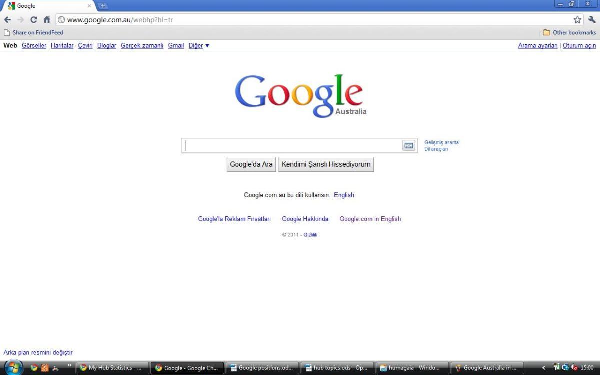 Google Australia in Turkish