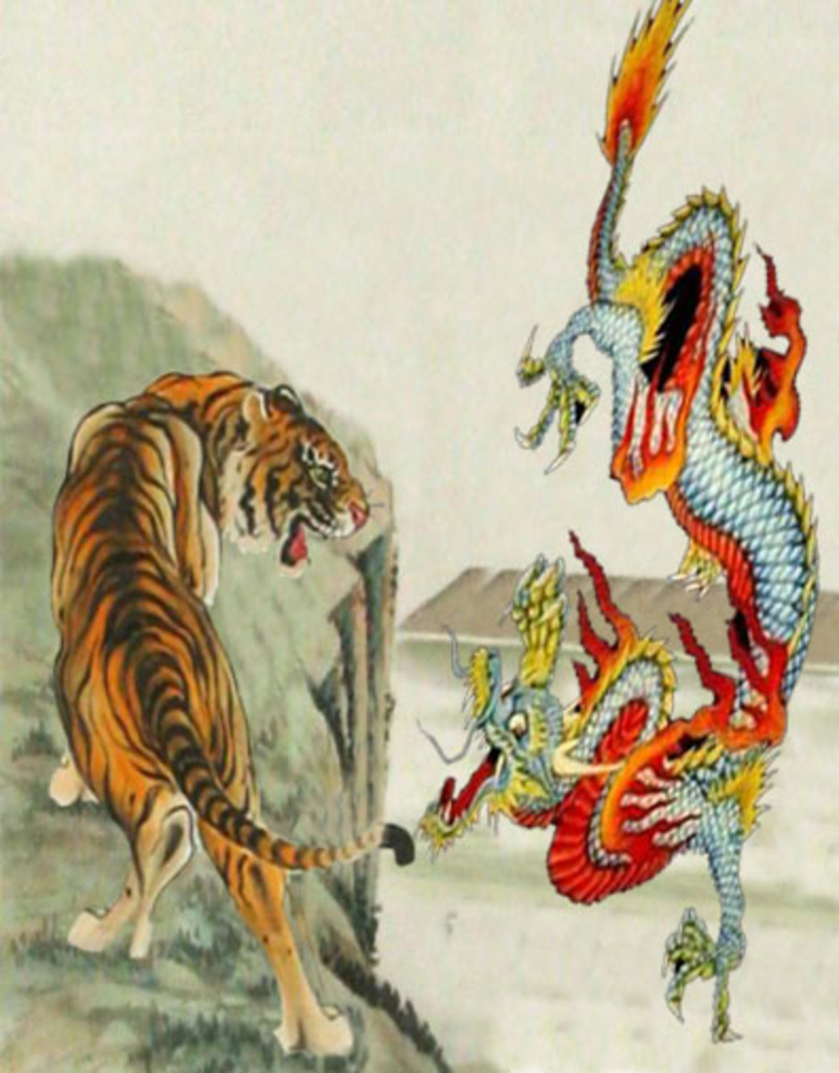 Dragon and Tiger Symbolism and Meaning