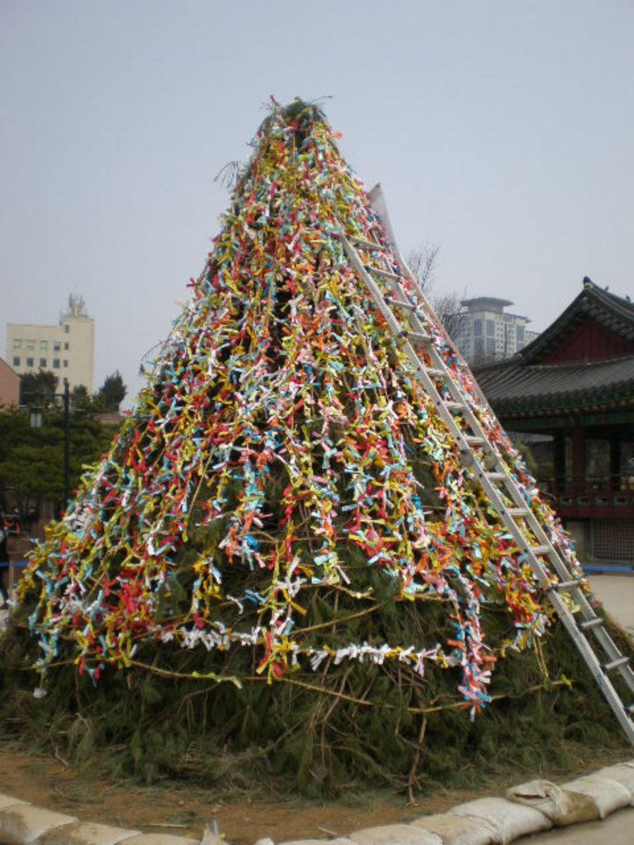 Wishing Tree at  Bukhon Hanok Village, Seoul.