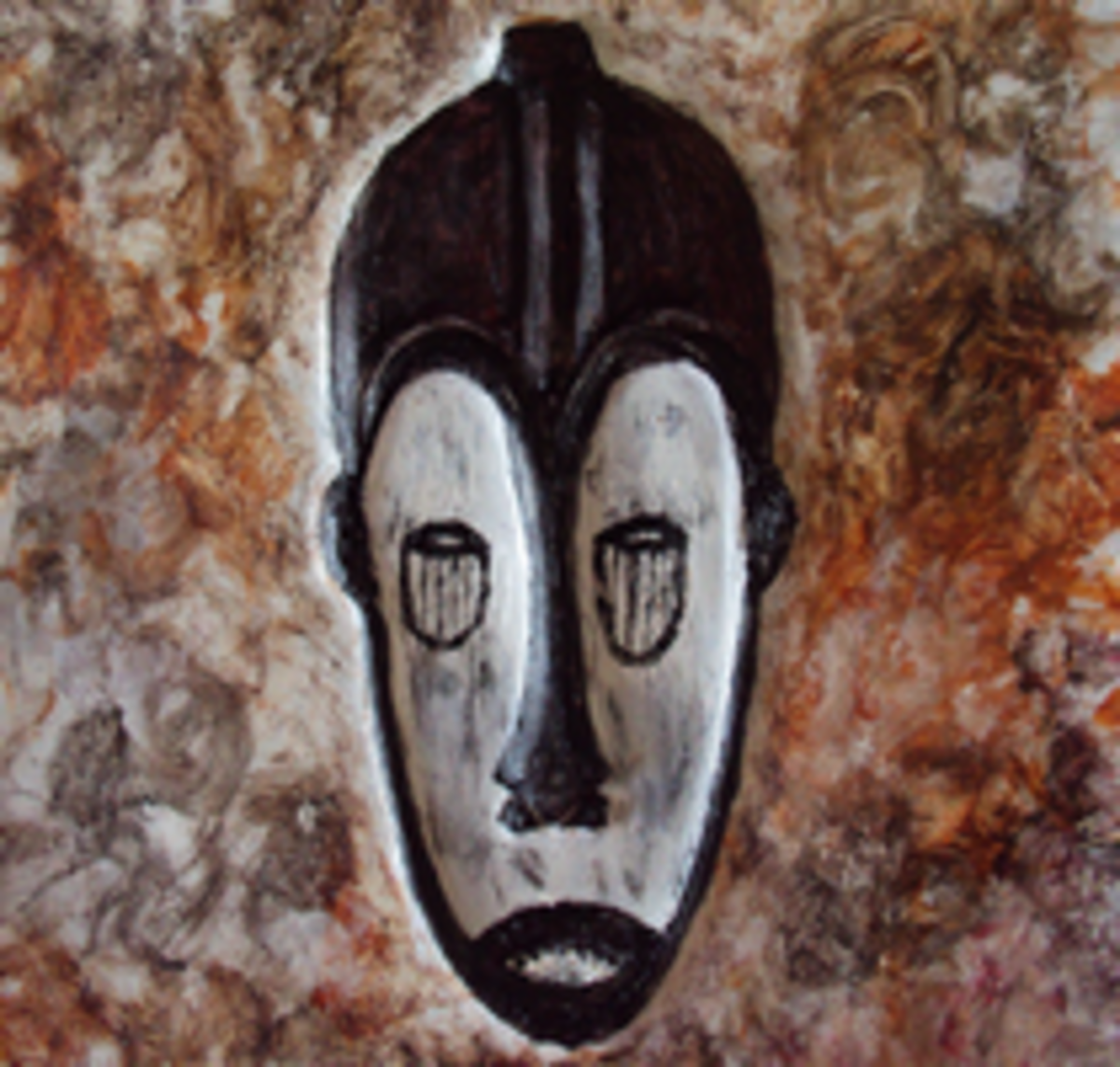 Fang Ngil African Mask Metal Art by Injete