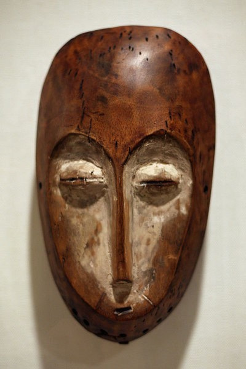 Lega African Tribal Masks