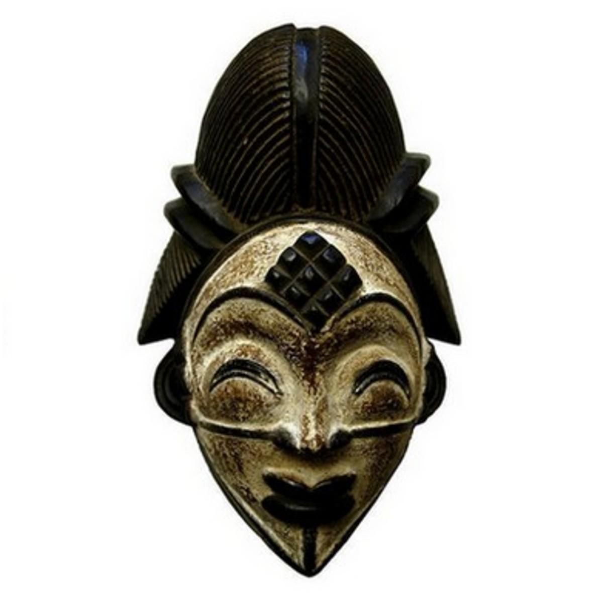 Punu Mukudj African Tribal Mask