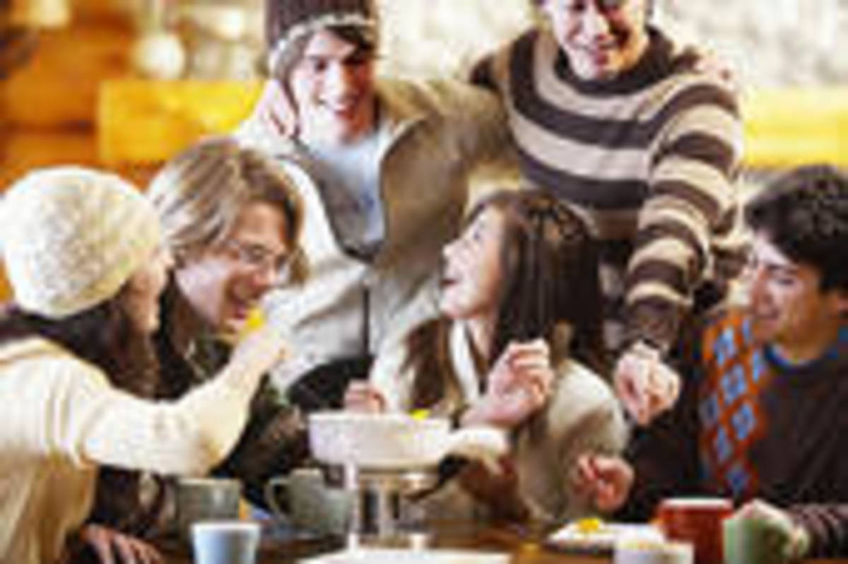 Recipe: Fondue Party with Friends & Classic Cheese Fondue | Fondue Pot Etiquette & More Things Fondue