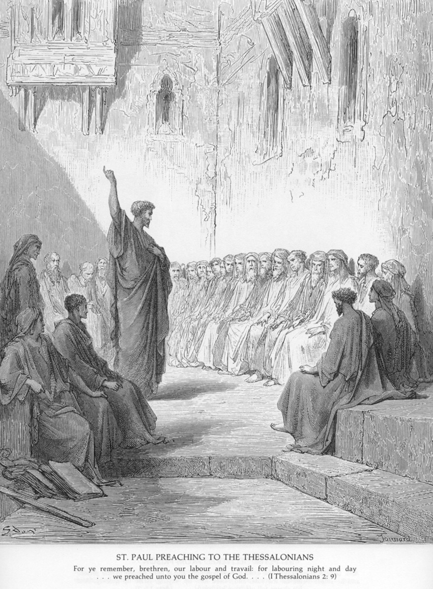 St Paul Preaching to the Thessalonians, Gustave Doré (1832-1883)