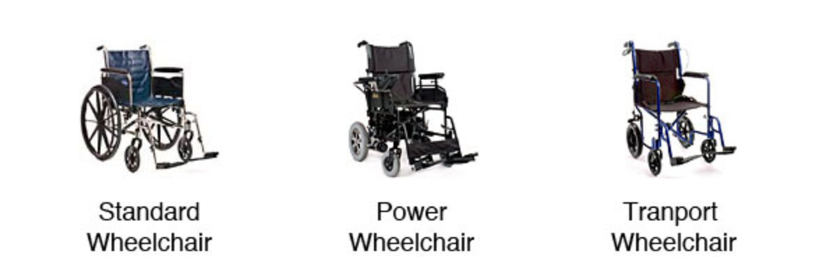 Several wheelchairs available to rent