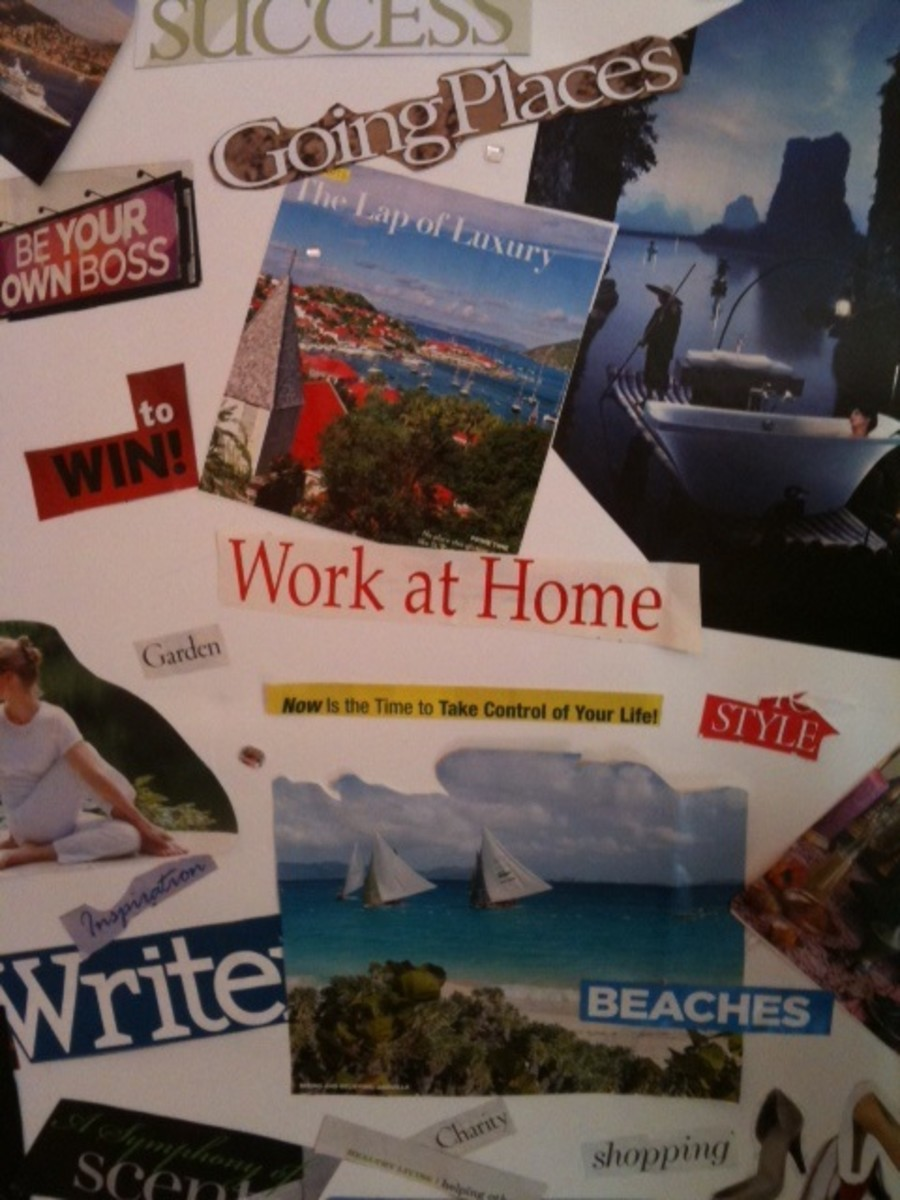 Create a Vision Board to help you realize  your dreams of the future.