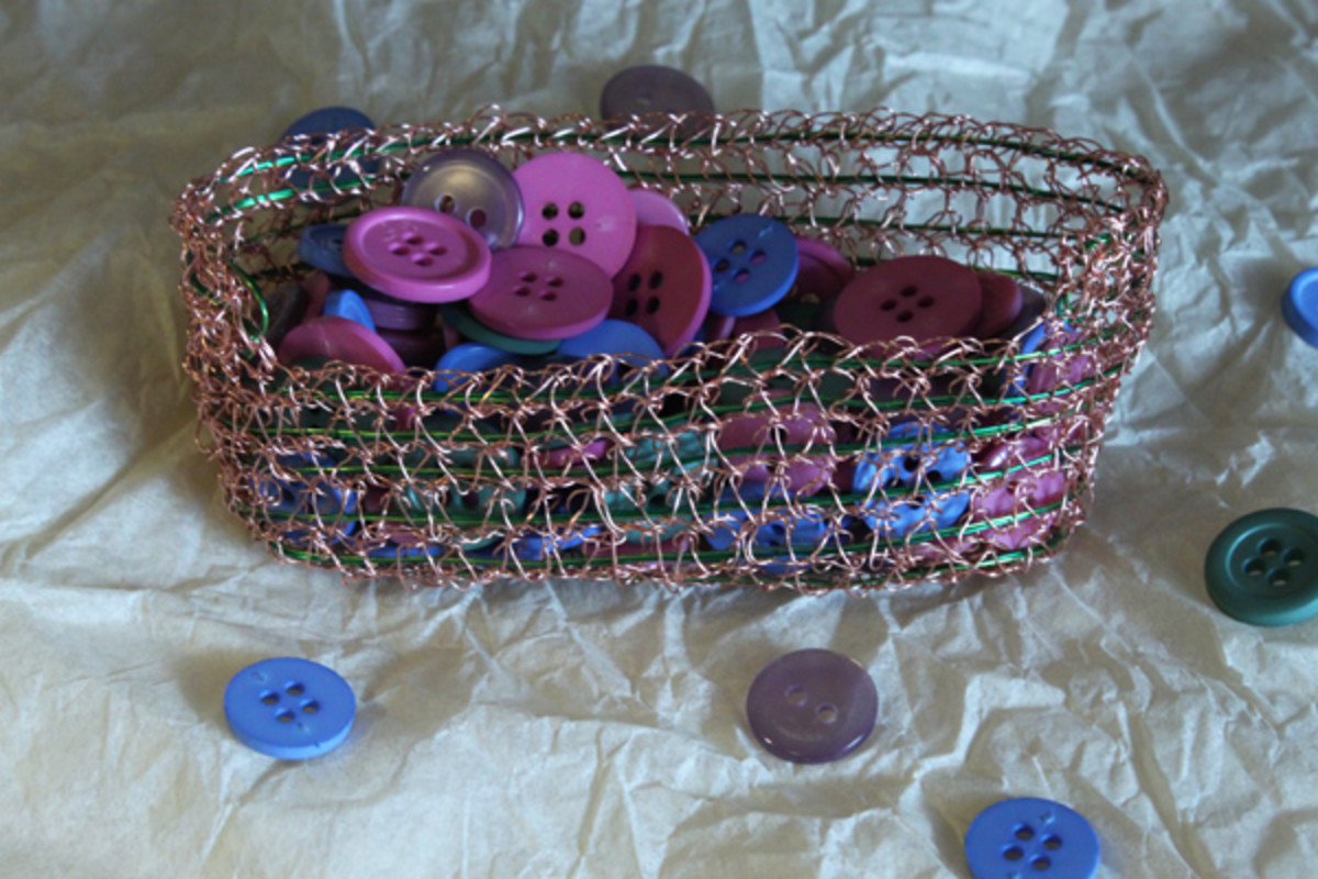 Crochet Wire Basket - Pattern