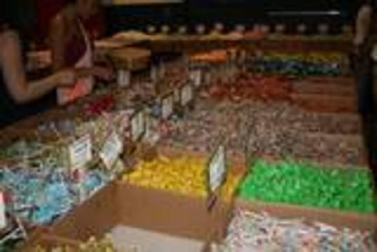 Tempting candy bins