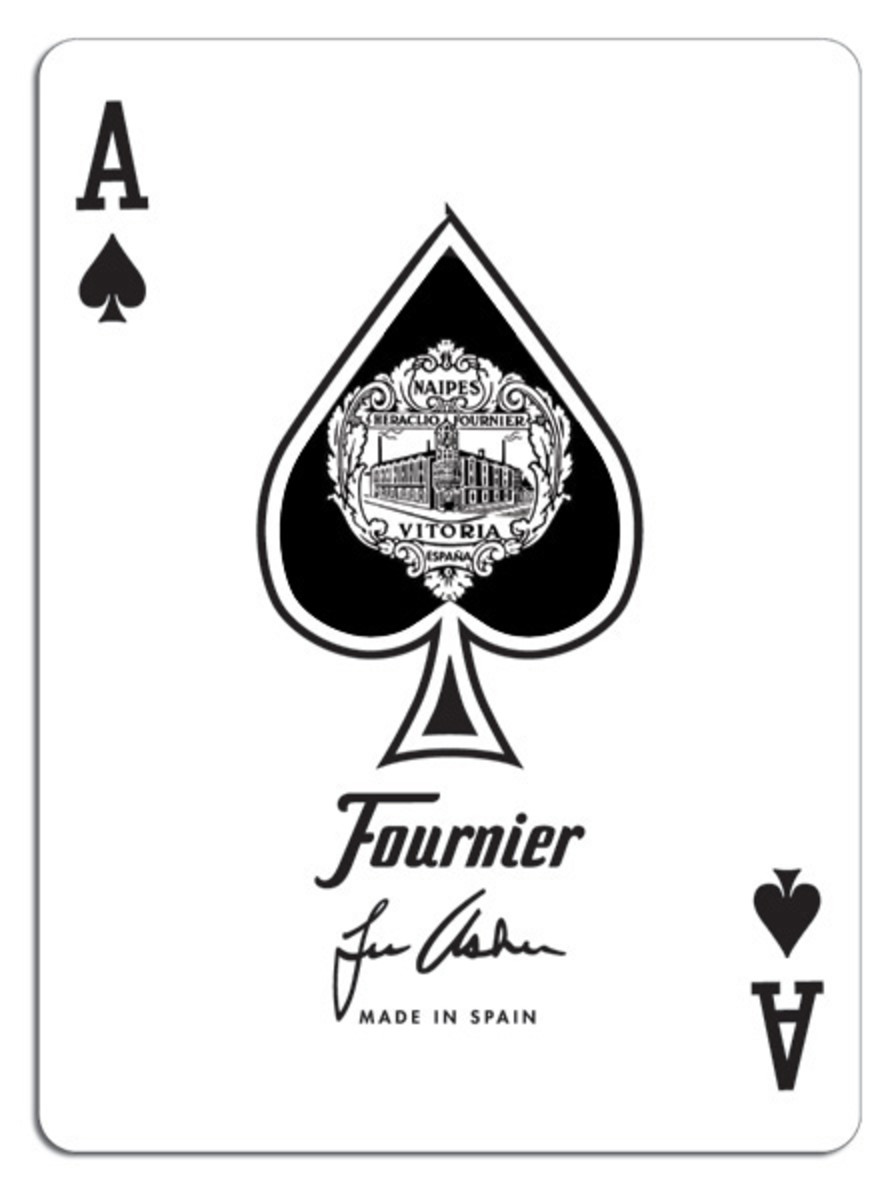 Manufacturers mark on the Ace of Spades