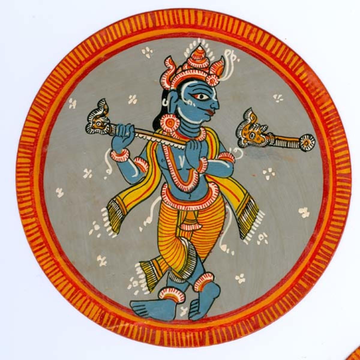 The Minature art in Indian Ganjifa cards