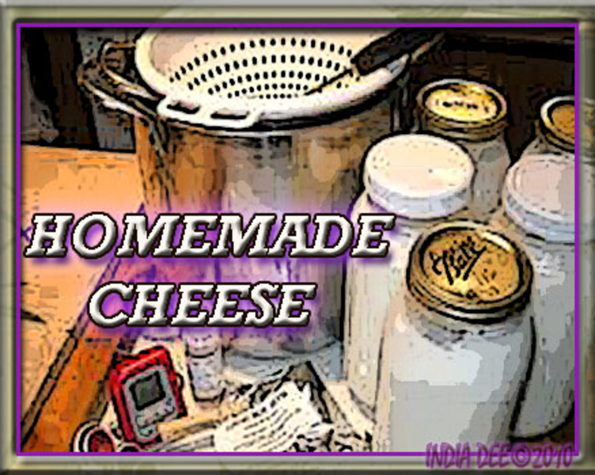 Homemade Cheese,  Separating the Curds and Whey, Salting the Cheese
