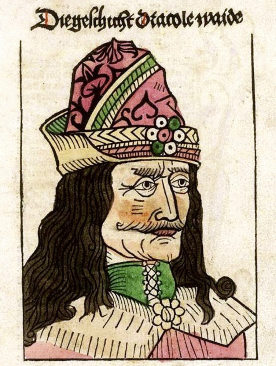 Vlad the Impaler, as depicted in popular German stories about his sadism.