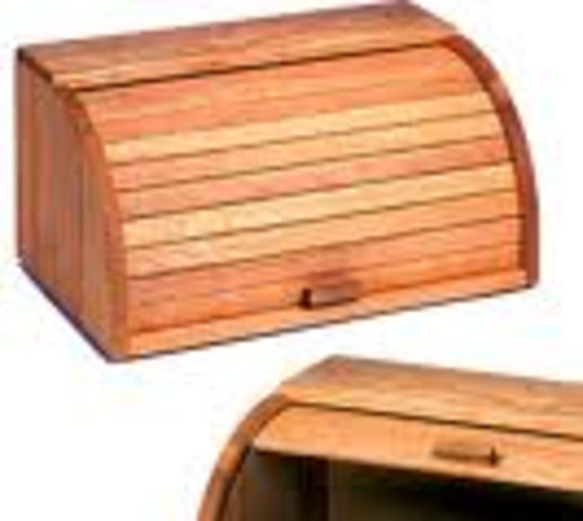 Breadbox with tambour.