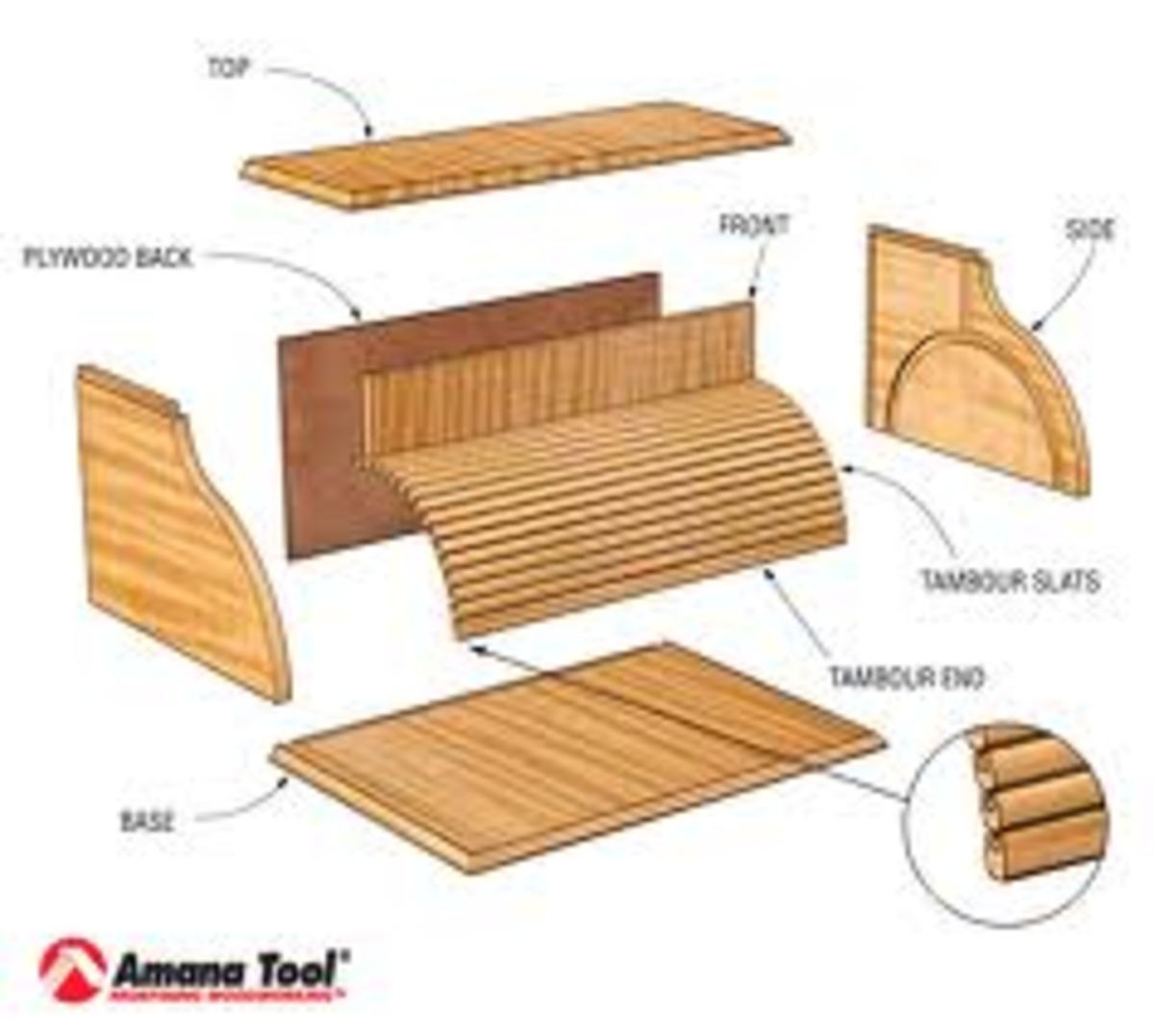 oak roll top desk plans