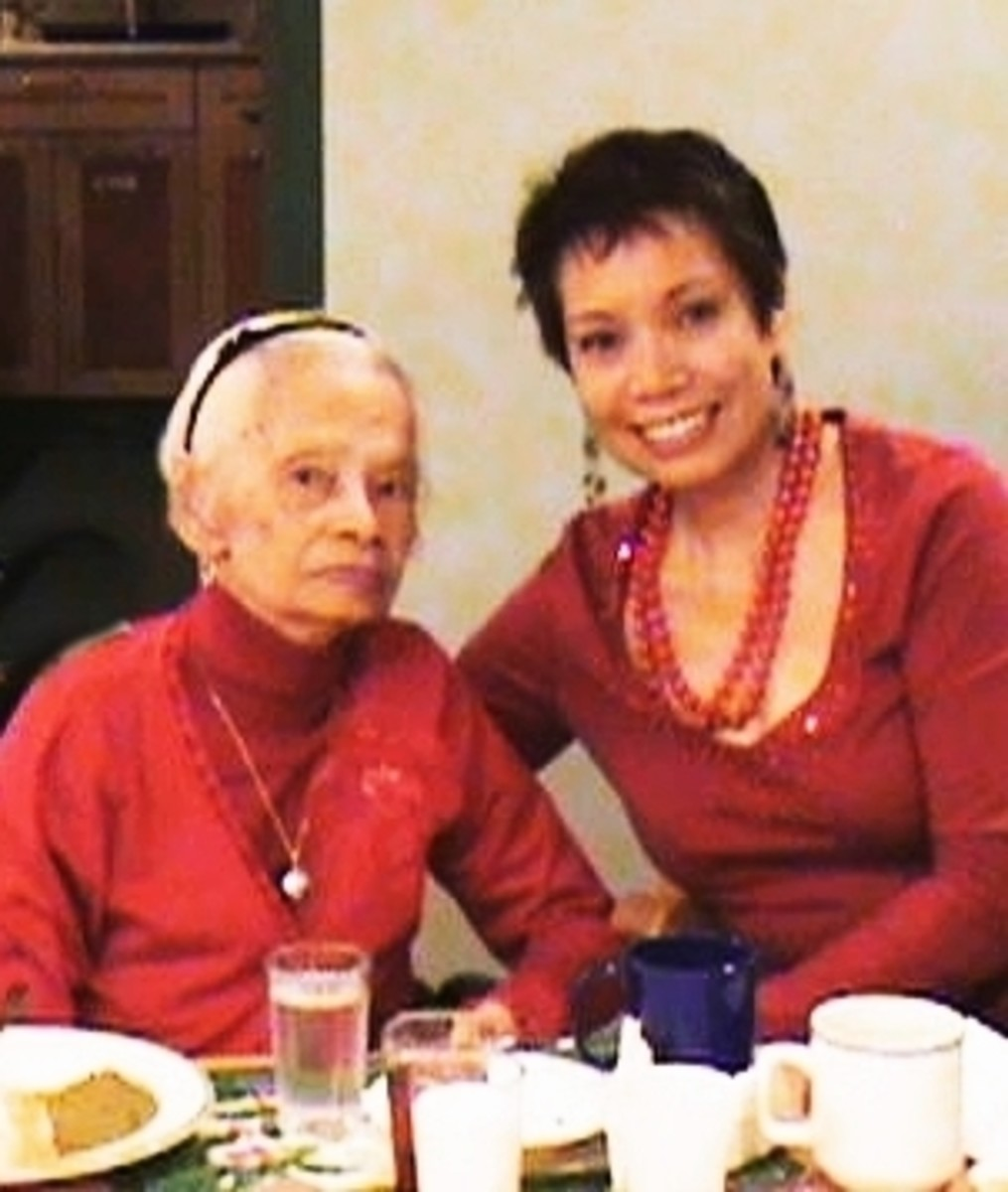 My mother and me (last Christmas with my mother, 2007)
