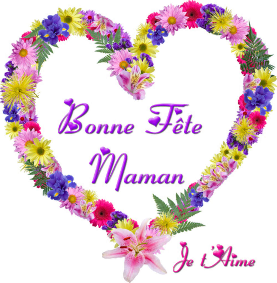 Happy Mothers Day card in French - When is Mothers Day?