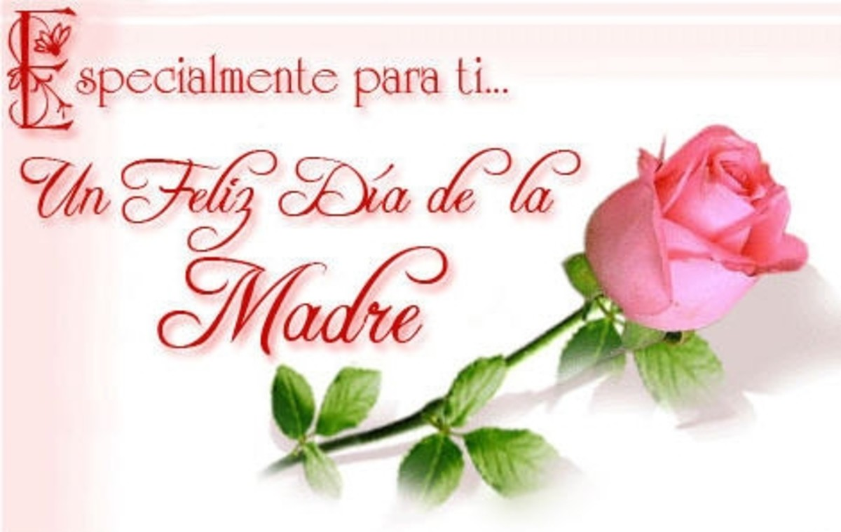 Happy Mothers Day card in Spanish - When is Mothers Day?