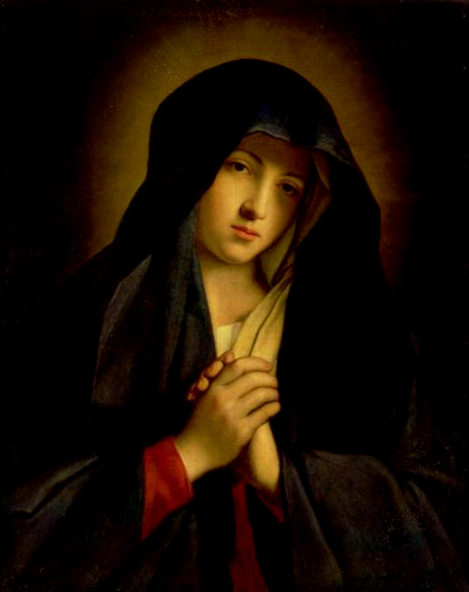The Virgin Mary - The Madonna in Sorrow, by Sassoferrato, 17th century. source Wikipedia - When is Mothers Day?