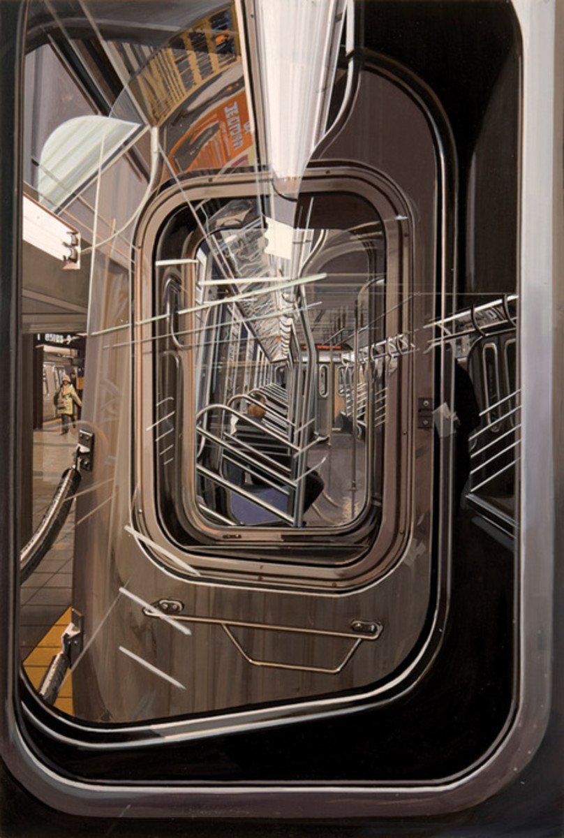 Photorealist, Richard Estes..The L Train