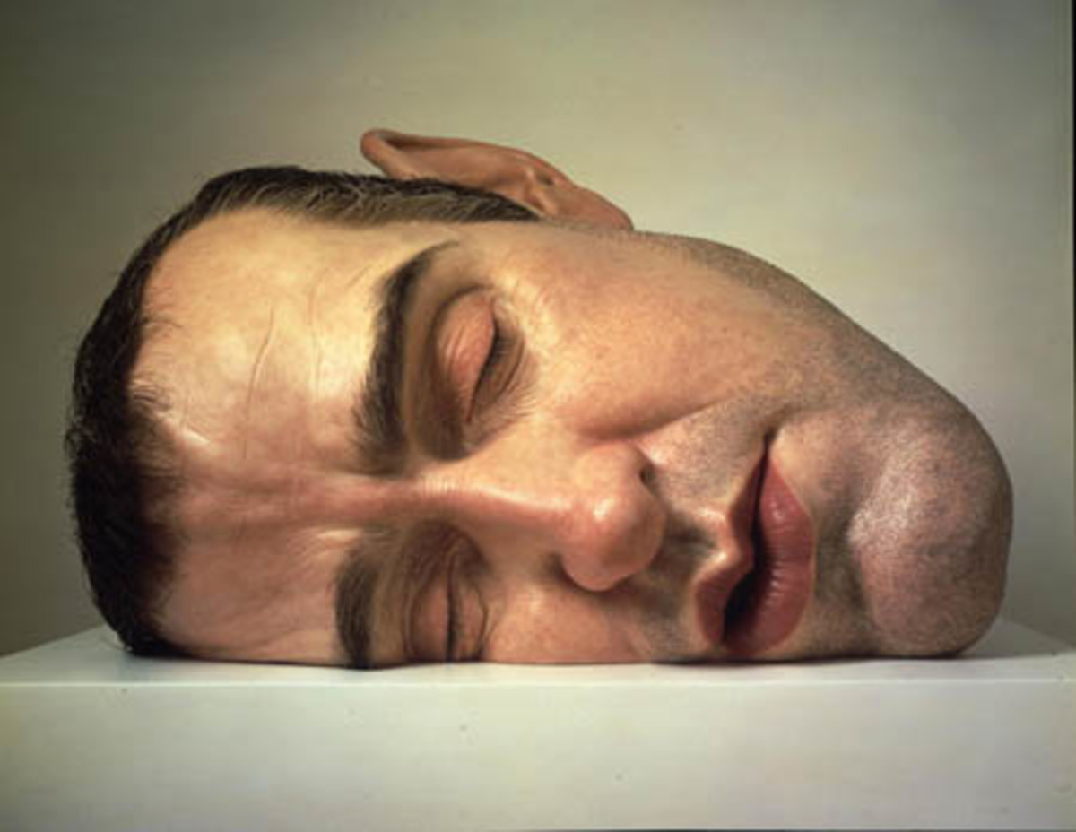 """Mask II"".  Up close and personal with a sleeping male face"