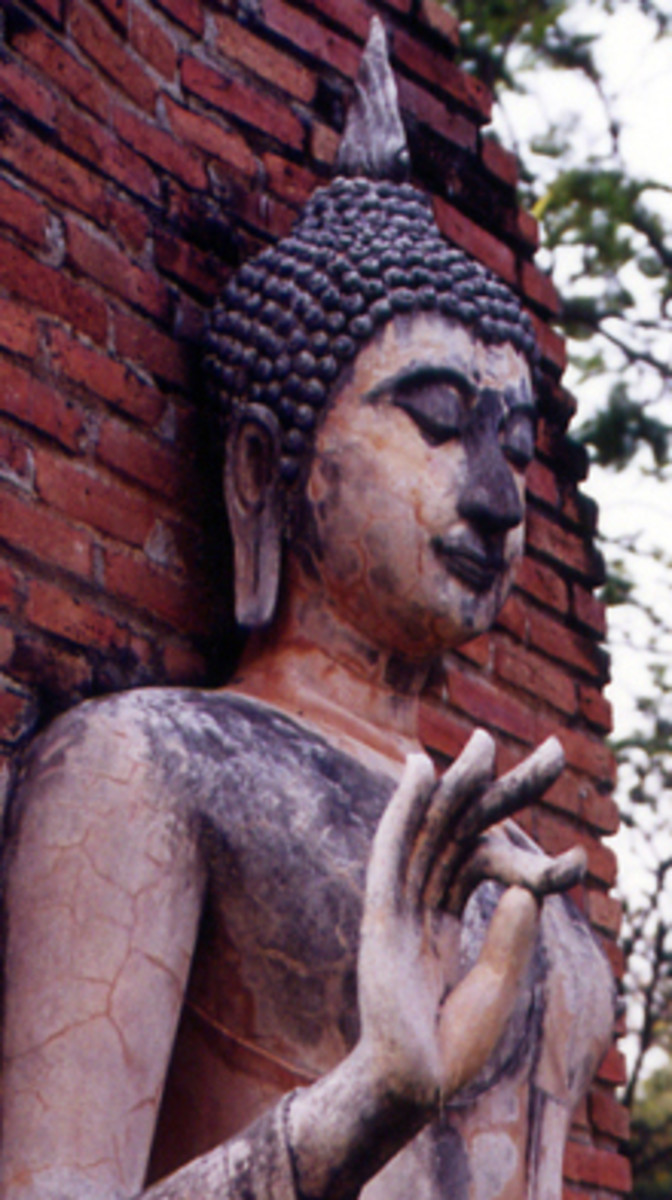 Hand Gesture of Teaching the Dharma, Sukhothai Historical Park, Thailand