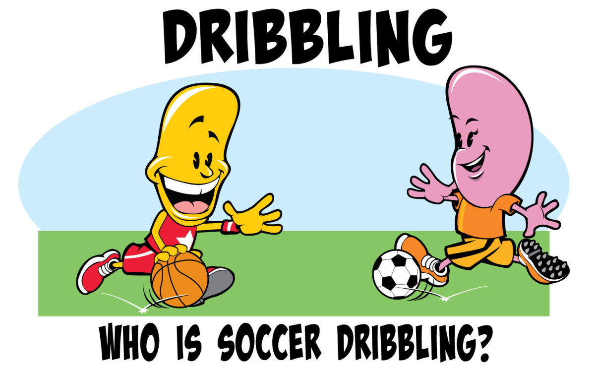 Near age four it is important to begin distinguishing the difference between the types of dribbles that exist in sports.  This can promote children's understanding of why not to use their hands in soccer.