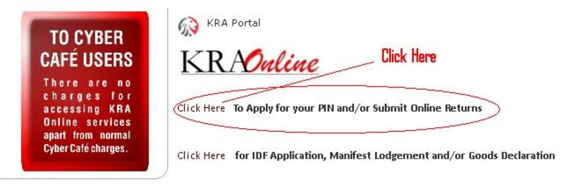 Click here to apply for KRA pin