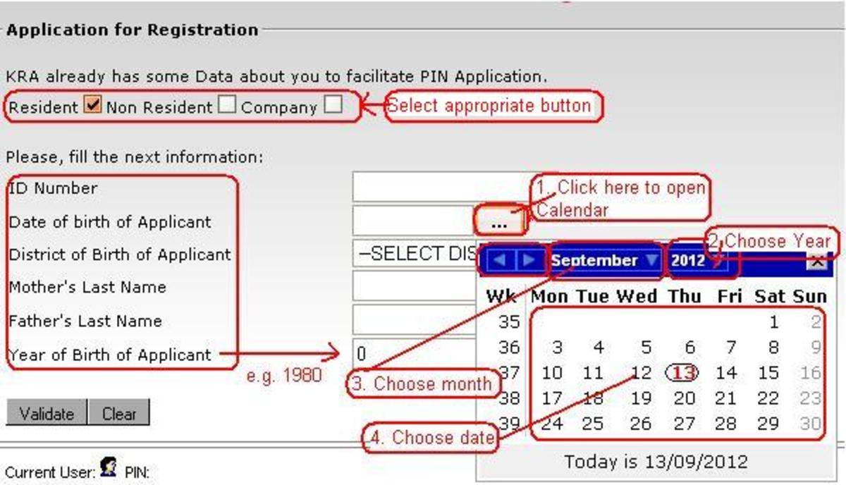 7149912_f520 Kra Pin Sample Filled Application Form on